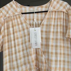 """NWT Christy Dawn - Dawn Dress """"Honey Checker"""""""